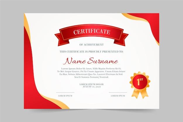 Elegant certificaatsjabloon Premium Vector