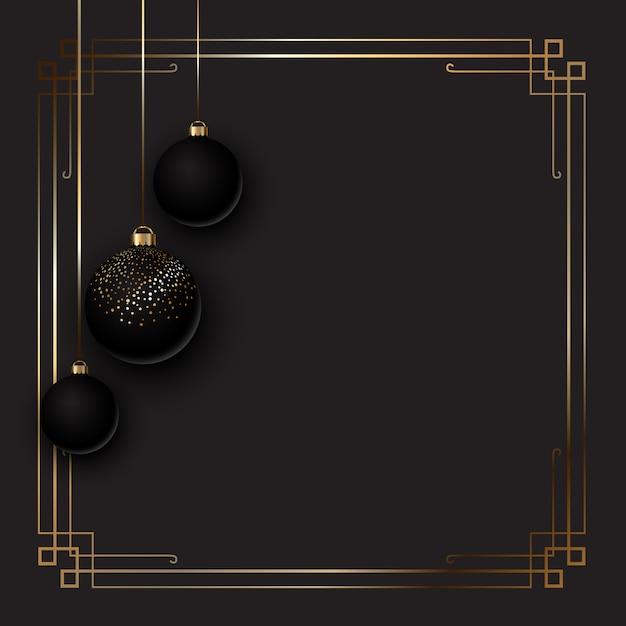 Elegant christmas achtergrond met kerstballen Gratis Vector