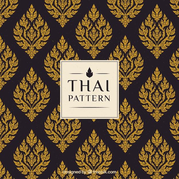 Elegant creatief thais patroon Gratis Vector