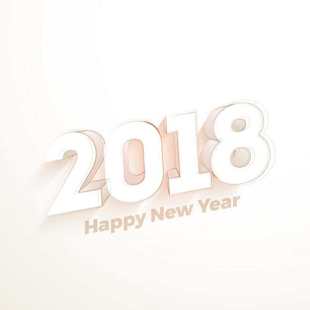 Elegant gelukkig nieuwjaar 2018 poster of flyer design. Premium Vector