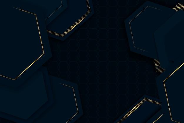 Elegant geometrisch vormen behang realistisch ontwerp Gratis Vector