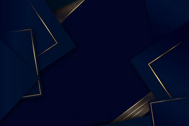 Elegant geometrisch vormen realistisch ontwerp als achtergrond Gratis Vector