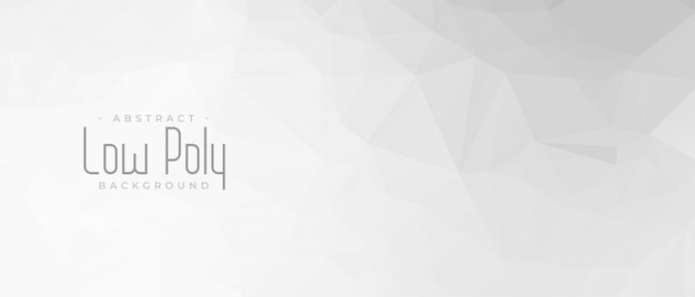 Elegant grijs laag poly abstract geometrisch bannerontwerp Gratis Vector