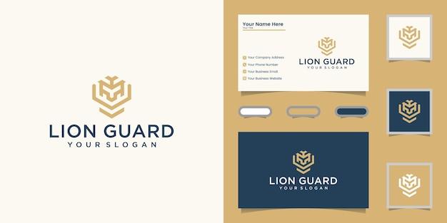 Elegant logo en visitekaartjeontwerp Premium Vector