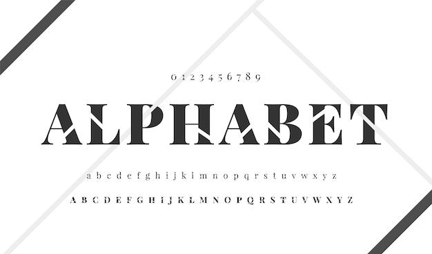 Elegant minimaal alfabet Gratis Vector