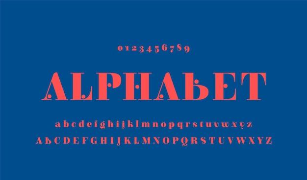 Elegant minimaal alfabet Premium Vector