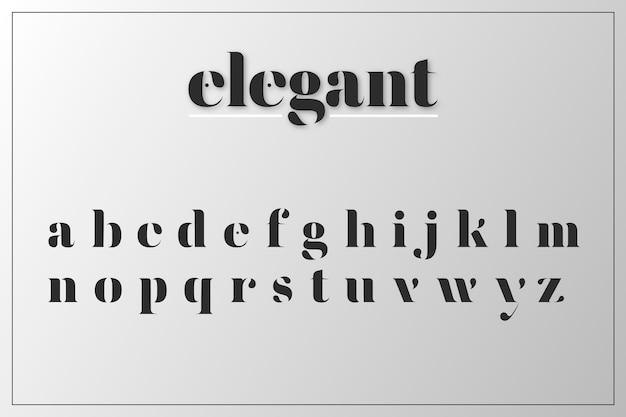Elegant minimaal alfabetconcept Gratis Vector