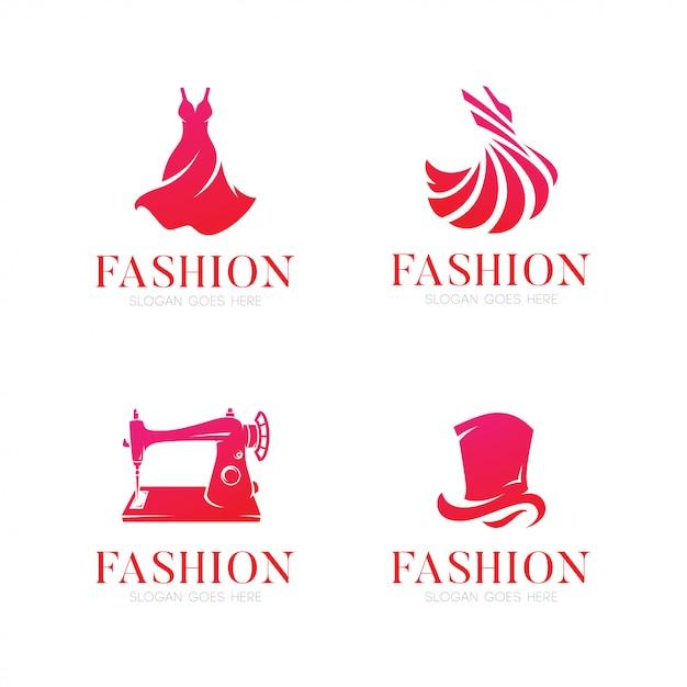 Elegant mode-logo Premium Vector