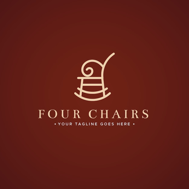 Elegant ontwerp voor meubellogo Gratis Vector
