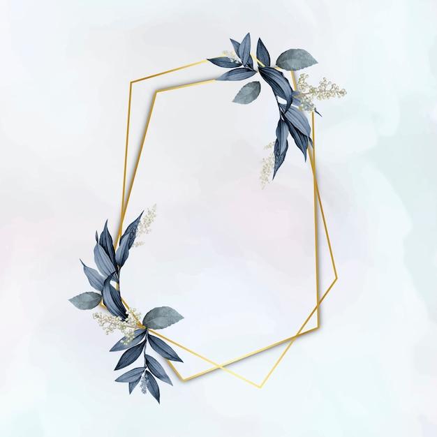 Elegant plantenbladframe Gratis Vector