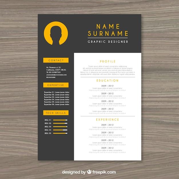 Elegant resume template | Gratis Vector