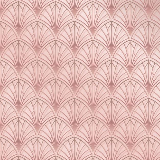 Elegant roze art-decopatroon Gratis Vector