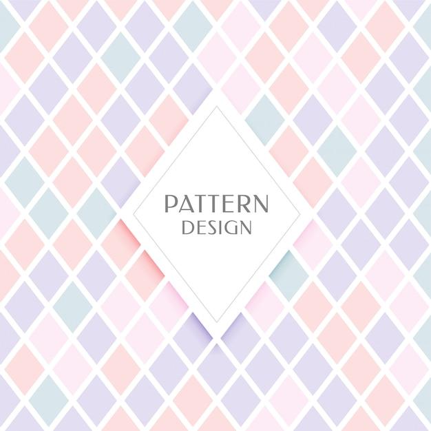 Elegant ruitpatroon in pastelkleuren Gratis Vector