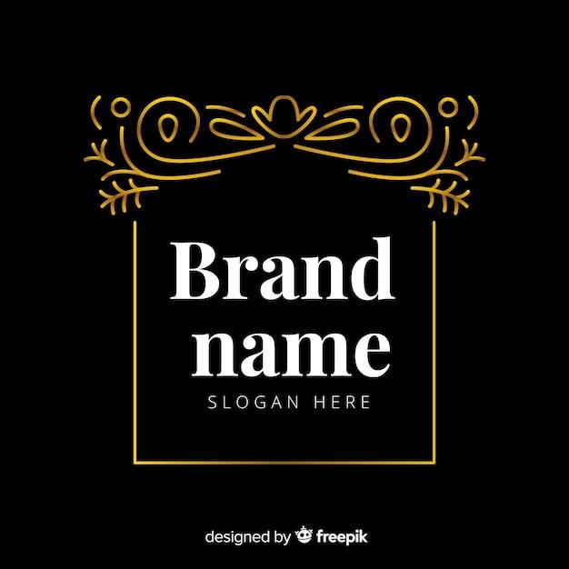Elegant sier logo sjabloon Gratis Vector