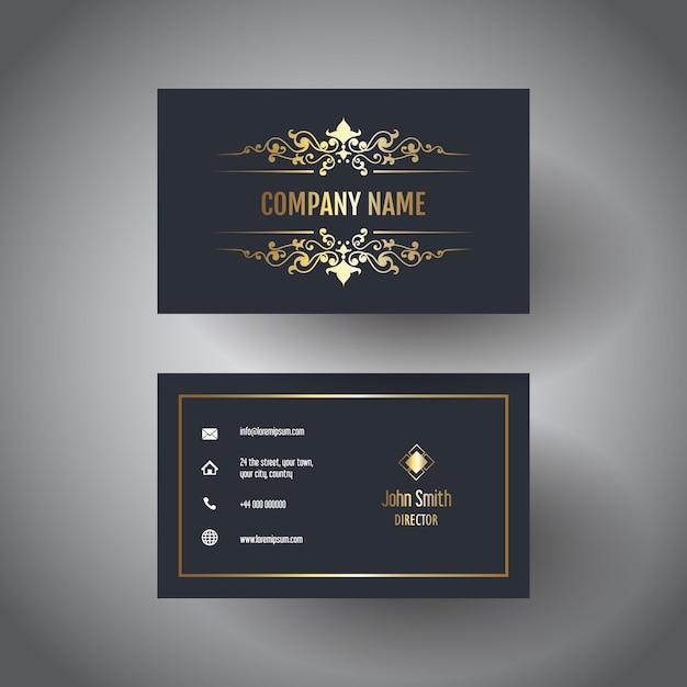 Elegant visitekaartje Gratis Vector