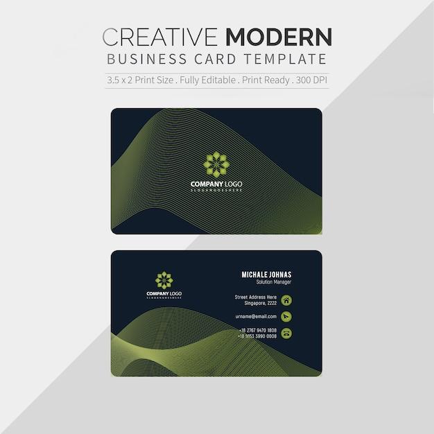 Elegant visitekaartje Premium Vector