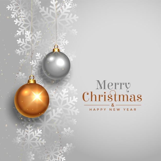 Elegant vrolijk de kaartontwerp van het kerstmis mooi festival Gratis Vector