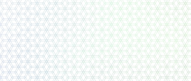 Elegant zeshoekig lijnpatroon Gratis Vector