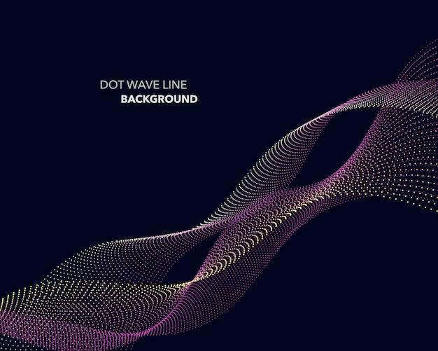Elegante abstracte futuristische de stijlachtergrond van de puntgolflijn Premium Vector