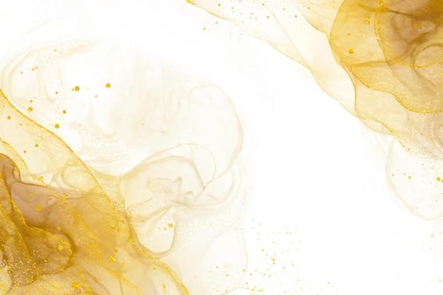 Elegante abstracte gouden achtergrond met glanzende elementen Gratis Vector