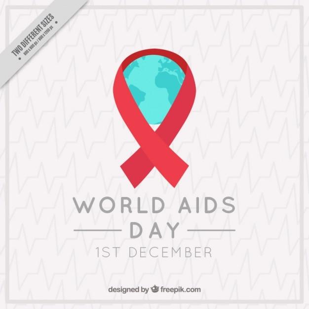 Elegante achtergrond van rode linten wereld aids dag Gratis Vector