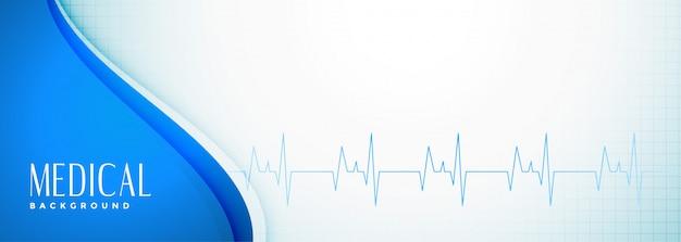 Elegante banner voor medische wetenschap en gezondheidszorg Gratis Vector