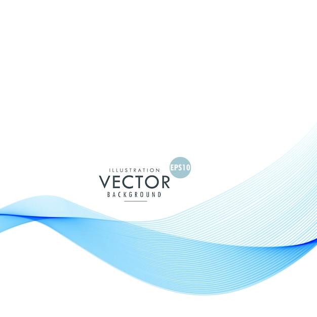 Elegante blauwe gladde golf vector baclground Gratis Vector