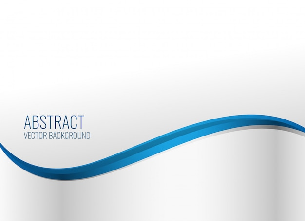 Elegante blauwe golvende stijlachtergrond Gratis Vector