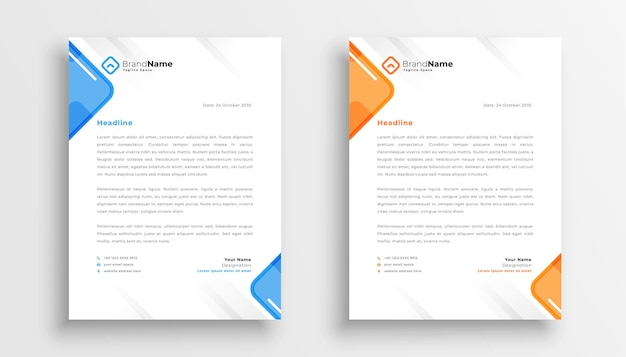 Elegante briefhoofd ontwerpsjabloon voor uw bedrijf Gratis Vector