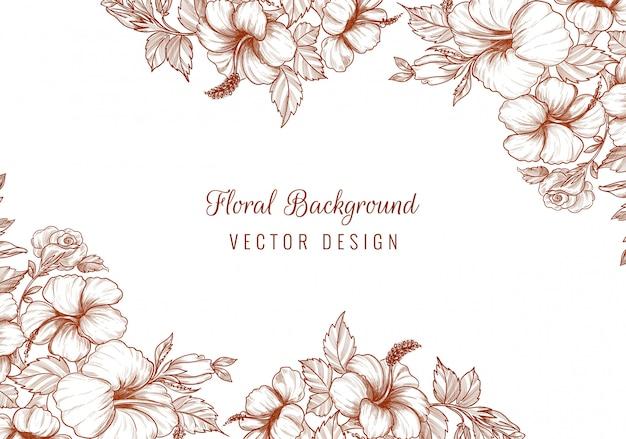 Elegante bruiloft decoratieve bloemen achtergrond Gratis Vector