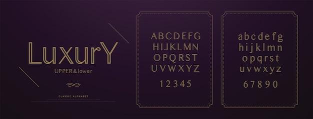 Elegante bruiloft luxe alfabet letters lettertype ingesteld. Premium Vector