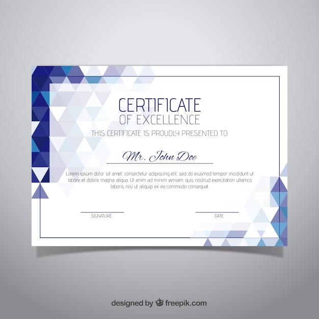 Elegante certificaatsjabloon Gratis Vector