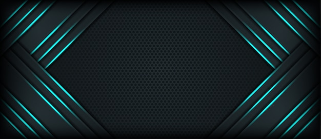 Elegante donkere abstracte achtergrond met overlappende lagen Premium Vector