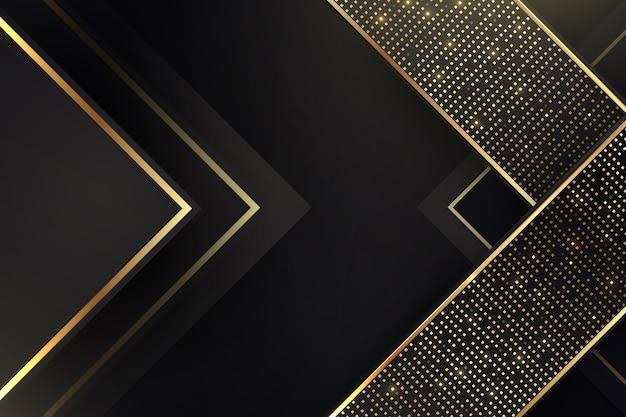 Elegante donkere achtergrond met gouden details Gratis Vector