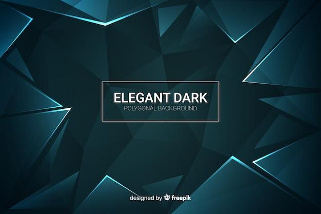 Elegante donkere veelhoekige decoratieve achtergrond Gratis Vector