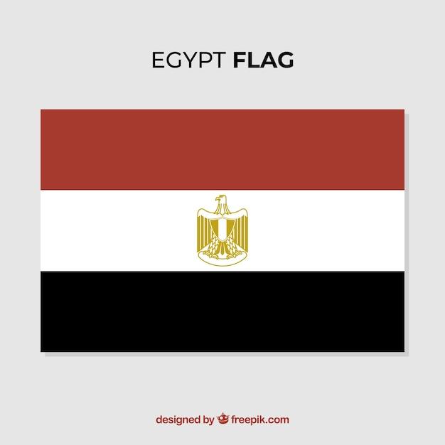 elegante egyptische vlag met plat ontwerp vector gratis