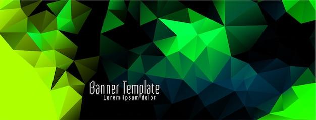 Elegante geometrische veelhoek ontwerp moderne banner Gratis Vector