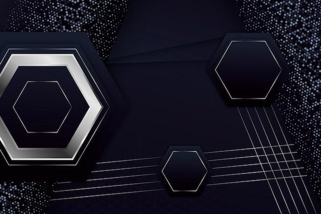 Elegante geometrische vormen achtergrond Gratis Vector