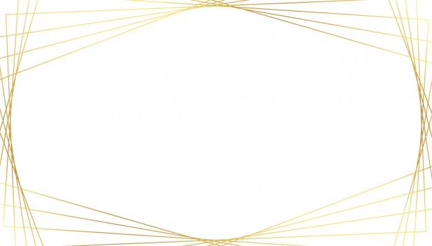 Elegante gouden geometrische lijnen op witte achtergrond Gratis Vector