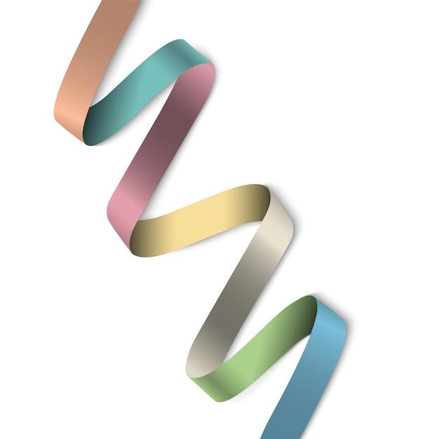 Elegante kleurrijke lintbanner voor ontwerp Premium Vector