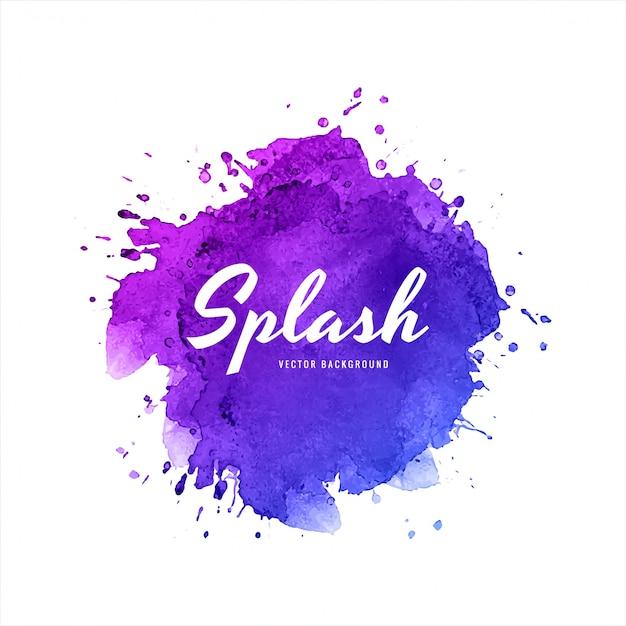 Elegante kleurrijke splash aquarel achtergrond Gratis Vector