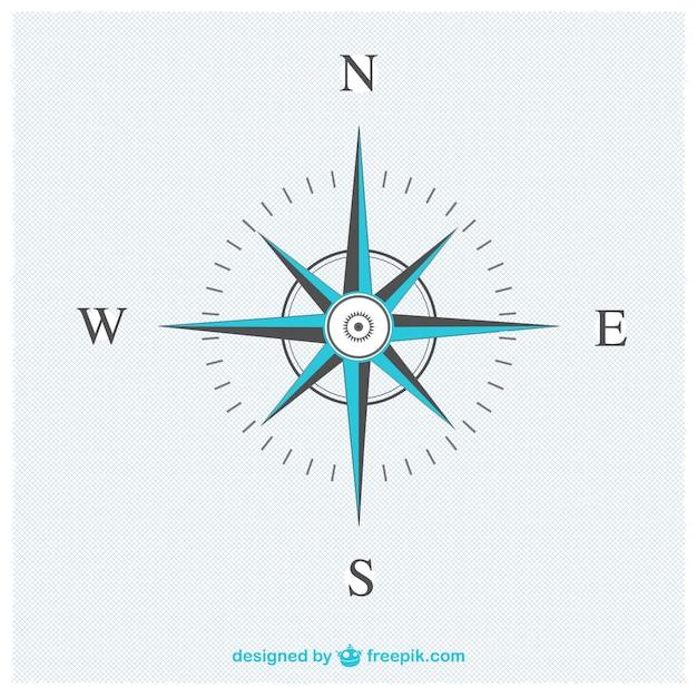 Elegante kompas vector Gratis Vector