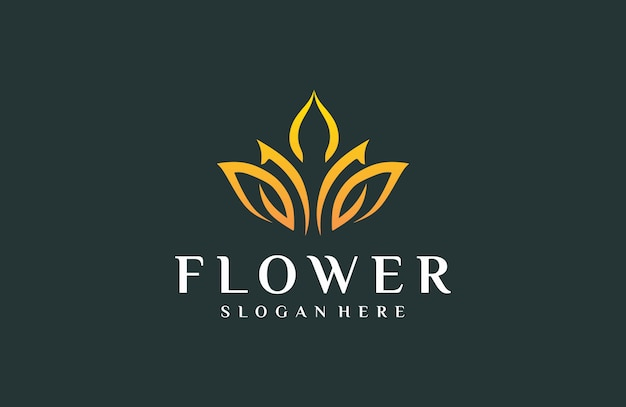 Elegante logobloemen Premium Vector