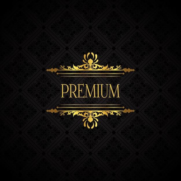 Elegante luxe merkachtergrond Gratis Vector