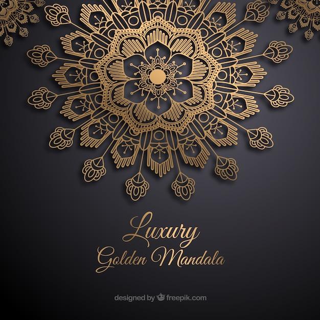 Elegante mandala concept achtergrond Gratis Vector