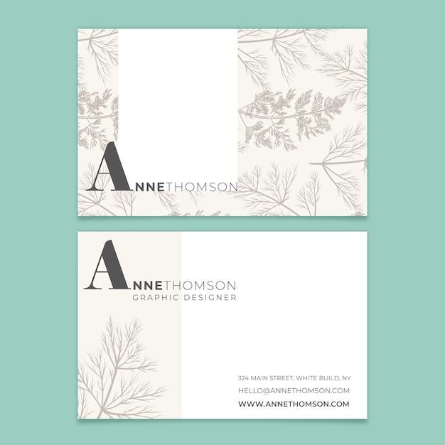 Elegante minimalistische visitekaartjesjabloon Gratis Vector
