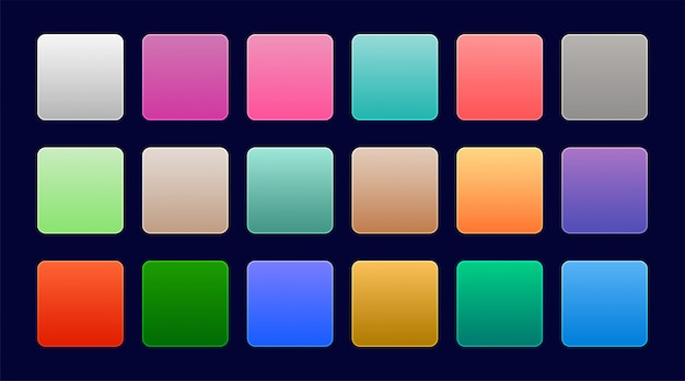 Elegante reeks kleurrijke webgradiënten Gratis Vector