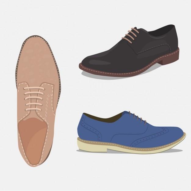 Elegante schoenen set Gratis Vector