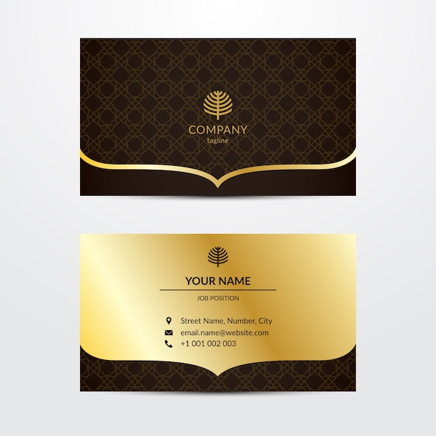 Elegante sjabloon voor visitekaartje Gratis Vector