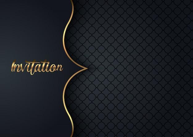 Elegante uitnodigingsachtergrond Gratis Vector
